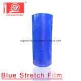 Excellente résistance à la traction du PEBDL 12-35mic machine bleue Film étirable ENROULER LE FILM