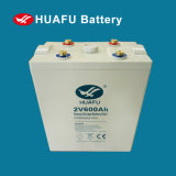 bateria acidificada ao chumbo selada da potência do uso 2V600ah bateria solar