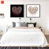 Het moderne Abstracte Eenvoudige Af:drukken van het Canvas van het Chroom van het Hart
