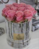 Коробка цветка Rose нового круга типа круглого акриловая