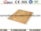 Деревянным прокатанная цветом панель стены потолка PVC панели PVC пластичная, Cielo Raso De PVC