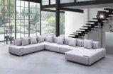 Design europeu moderno mobiliário de sala de estar grande sofá de tecido em forma de U (HC-R573)