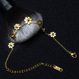 カスタム方法宝石類のステンレス鋼の女性の花の魅力のブレスレット