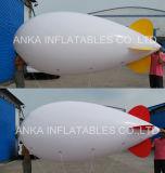 Dirigeables souples de publicité gonflables d'hélium couleur blanche chaude de vente de grande