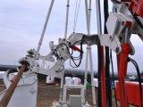 管の挿入システムが装備されている多機能の傾けられた掘削装置
