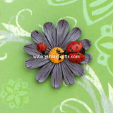Blumen-Skulptur Polyresin Kühlraum-Magnet für Dekoration (YH-RFM040)