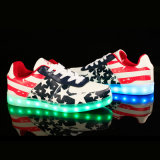 Nós Star Casul Men's / Women's PU Rechargeable LED Shoes