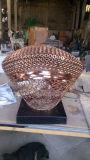 Fibra de vidro de plástico reforçado / bloco de aço inoxidável Cena Mural Decoração de interiores, decoração ao ar livre Escultura metálica Jardim