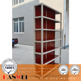 Estante de metal Mobília de madeira de aço Móveis de madeira
