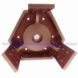 CNC алюминия высокого качества подвергая механической обработке для частей робототехники с цветом золота Rose
