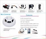 câmera falsificada escondida CMOS de WiFi da fiscalização do detetor de fumo 1.0MP