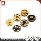 Botón individual simple de encargo del metal del broche de presión de la camisa de Monocolor