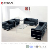 Sofá de couro de design contemporâneo Orizeal, Sofá de escritório de três lugares (OZ-OSF004)