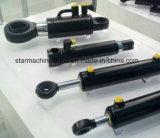 Cilindro hidráulico telescópico fabricado em fábrica para agricultura, máquinas de construção