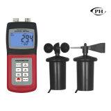 Digitale Handbediende Anemometer met Temperatuur