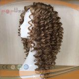 Belle blonde profonde des cheveux ondulés PU main liée Full Lace Wig