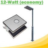 luz de calle solar integrada de 12W LED