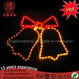 休日のLEDロープライトモチーフのジングルベルのクリスマスの装飾的なライト