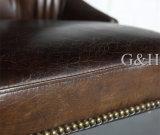 椅子を食事するレストランの椅子の本革
