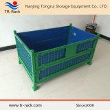 Gabbia resistente pieghevole & accatastabile della rete metallica per memoria del magazzino