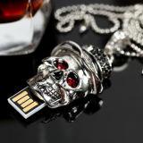 Неподдельная вспышка USB емкости управляет приводом пер ручки памяти черепа