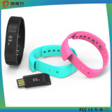 Borracha de silicone IP67 Waterproof Smart Sleep Monitor Tracking Pedômetro Fitness Relógios Braceletes Bluetooth
