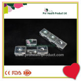 Un jour hebdomadaire de PP translucide pilule conteneur Square 21 compartiments