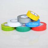 Buon nastro elettrico diplomato dell'isolamento del PVC dell'adesivo di gomma