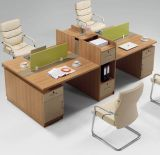 4 Kantoormeubilair van het Werkstation van de Benen van het Metaal van de Verdeling van het Bureau van zetels het Rechte (Hx-NCD356)