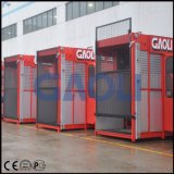 Mecanismo de elevação de gaiolas duplas de construção Construção Elevador