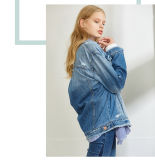Coat Denim Jacket Wholesale di modo della signora per le donne