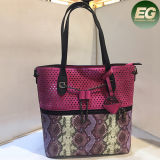 最新のヘビの方法は女性の女性Sy8047のための大きいサイズのショッピング戦闘状況表示板のハンドバッグを袋に入れる