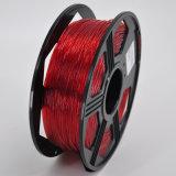Buen filamento 1.75m m natural flexible de la impresión que enrolla 3D