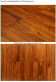 Suelo mongol de la madera dura de la teca del color de oro rico preacabado