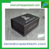 Het Zwarte Magnetische Hulpmiddel die van de douane het Vakje van de Gift van de Verpakking van het Met een laag bedekte Document verpakken