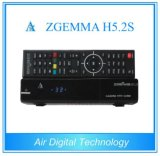 Nueva potente CPU Zgemma H5.2s doble núcleo Linux OS Enigma2 DVB-S2 + S2 Twin Tuners con Hevc / H. 265