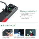2017 ABS al aire libre USB recargable con luz de trabajo fuerte imán