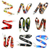 Promoción Poliéster Multi Color Dye Sublimation / Heat Transfer Logo Custom Lanyard para regalos