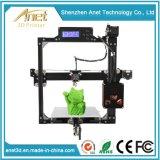 Commercio all'ingrosso da tavolino di vendita caldo della stampante 3D dello schermo dell'affissione a cristalli liquidi di Anet A8