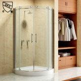 Doublure de salle de bains coulissante en aluminium avec poignée en acier inoxydable (K04)