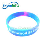 Bracelets de silicones estampés par coutume chaude de bracelet de vente en gros de vente