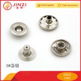Botão decorativo brilhante metálico de liga de zinco