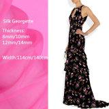 Diseño personalizado de alta calidad impreso Digital de tejido de seda Georgette