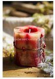 Candela di marmo della colonna, candela domestica della colonna della decorazione