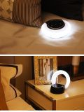 Lámpara ligera recargable del LED con el sonido de la calidad, sensor de la luz del tacto de la alta calidad