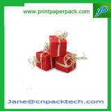 Boîte-cadeau fabriquée à la main colorée de papier d'impression offset de carton fait sur commande de bande pour l'empaquetage de cadeau