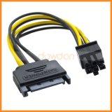 製造業者SATA 15pinへの6pin PCIはカードの電源コードを表現する
