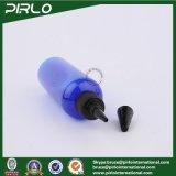 contagoccia di plastica vuoto Botttle dell'azzurro di cobalto 500ml con la protezione della parte superiore di torsione dell'unicorno per le estetiche o l'uso farmaceutico
