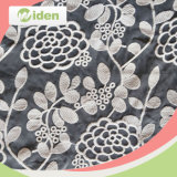 Padrão floral vermelho e nylon de poli bordado tecido de renda