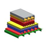 Tipo ergonómico perfil de la cubierta de la fabricación de D702 China de la extrusión por estirado FRP